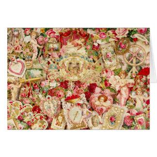 Victorian Valentine Collage Card
