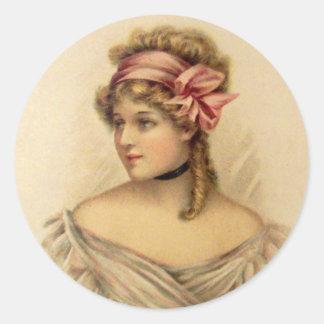 Victorian Valentine Greetings Stickers