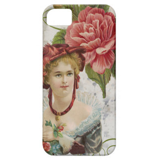 Victorian Vintage Red Rose Lady Case For The iPhone 5