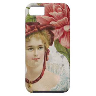 Victorian Vintage Red Rose Lady iPhone 5 Cover