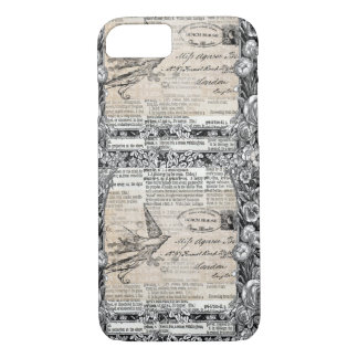 Victorian Vintage Style Bird Iphone Case