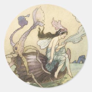 Victorian Water Faerie Sticker