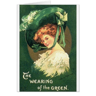 Victorian Wearing Green St. Patrick's Day Card