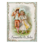 Victorian Wedding Save the Date Postcard