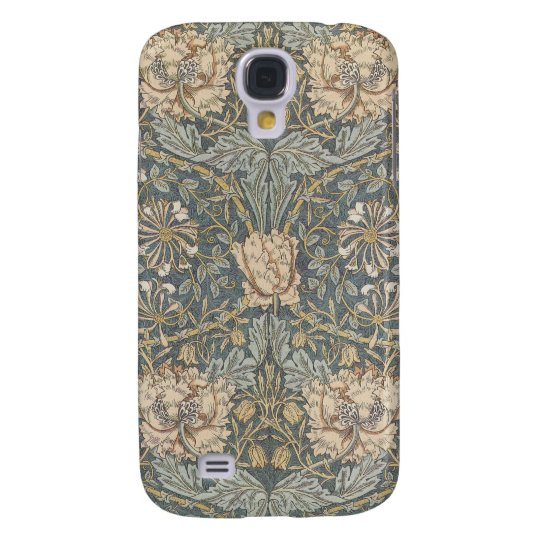 Victorian William Morris Floral Textile Pattern Galaxy S4 Case