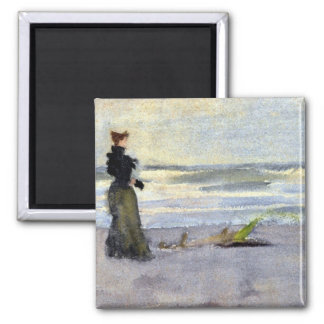 Victorian Woman Beside Water Fridge Magnets