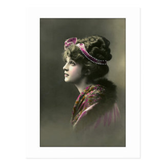 victorian woman hopeful expression post cards