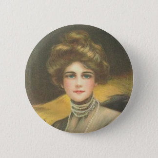 Victorian Woman on a Button