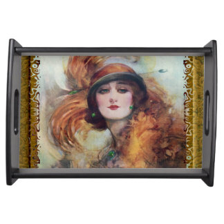 Victorian Woman Serving Tray
