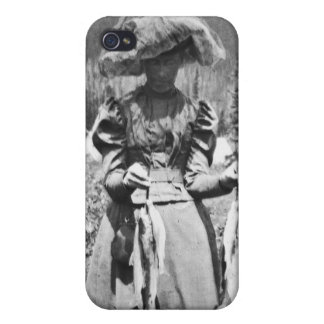 Victorian Woman with Fish Vintage Glass Slide iPhone 4 Case