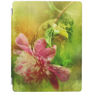 Victorian Woman with Pink Peony iPad Cover