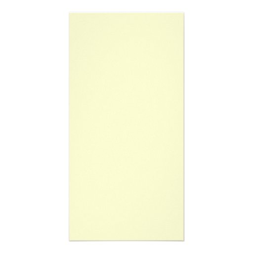 Victorian Yellow - Pale Yellow Template Blank Picture Card