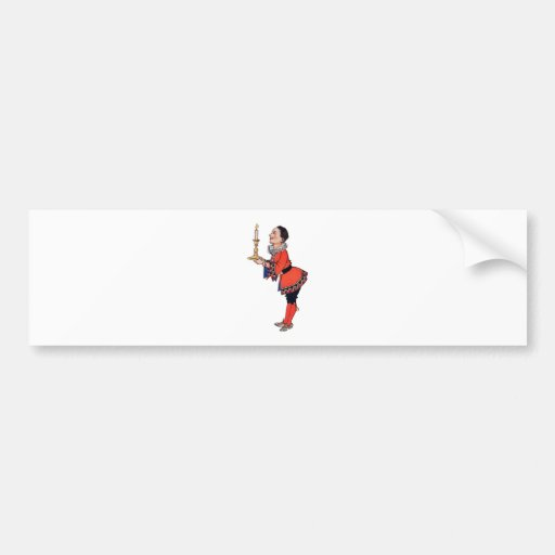 Victorian Young Boy Holding Candle Bumper Sticker