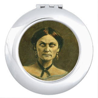 Victorian Zombie Lady Compact Mirror