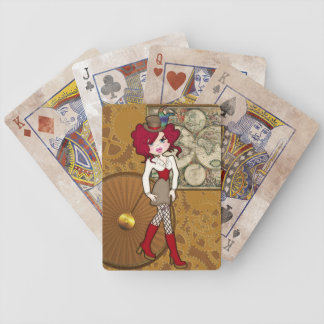 Victoriana Steampunk Girl Custom Playing Cards