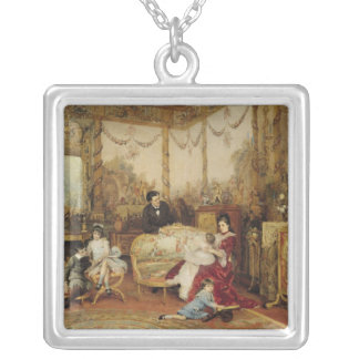 Victorien Sardou  and his Family Silver Plated Necklace