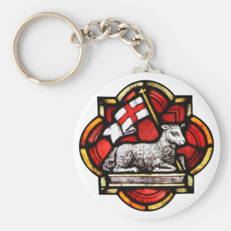 Victorious Lamb Basic Round Button Key Ring