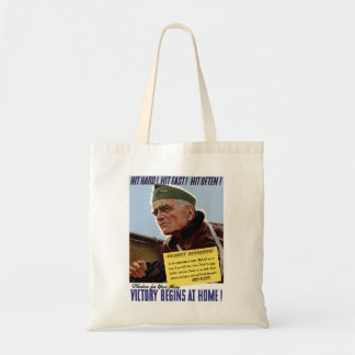 Victory Begins At Home -- Bull Halsey Tote Bag