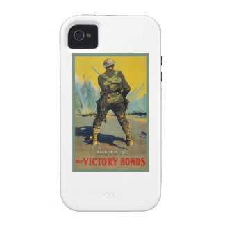 Victory Bonds Back Him Up WWI Propaganda WW1 Vibe iPhone 4 Covers