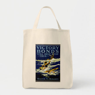 Victory Bonds Will Help Stop This Grocery Tote Bag