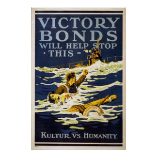 Victory Bonds will help stop this World War 1 Poster