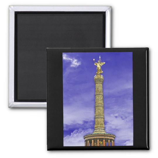 Victory Column (siegessaule), Berlin (Blue Sky) Square Magnet