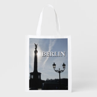 Victory-Column with street lamp 02.T.2, Berlin Reusable Grocery Bag