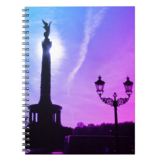 Victory-Column with street lamp 03, Berlin Spiral Notebook