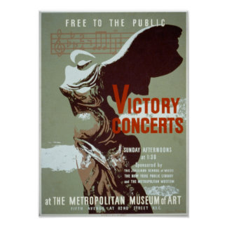 Victory concert WPA poster