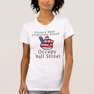 Victory Flag Fight Corporate Greed T-Shirt