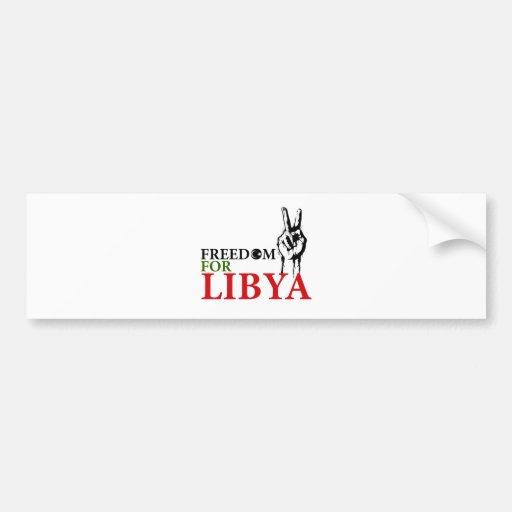Victory & Freedom for Libya Bumper Sticker