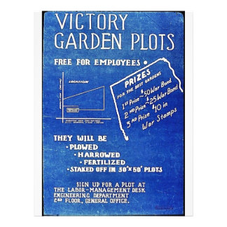 Victory Garden Plots, Free For Employees Flyer