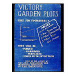Victory Garden Plots, Free For Employees Postcard