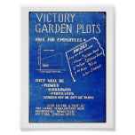 Victory Garden Plots, Free For Employees Posters