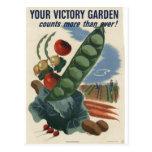 Victory garden poster, World War 2 1945 Post Cards