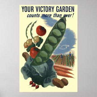 Victory Garden Vintage Poster