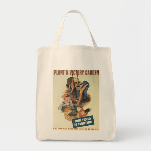 Victory Garden World War 2 Grocery Tote Bag