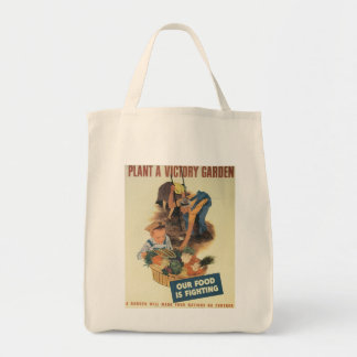 Victory Garden World War 2 Tote Bag