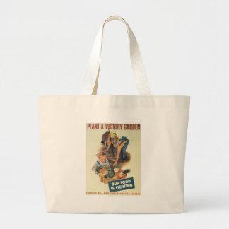 Victory Garden World War 2 Canvas Bags