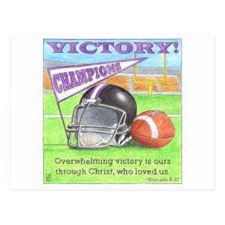 Victory Inspirational Postcard