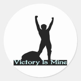 Victory Is Mine Round Sticker