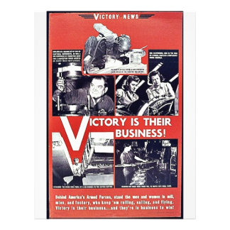 Victory Is Their Business 21.5 Cm X 28 Cm Flyer