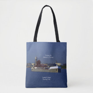 Victory & James L. Kuber all over tote bag