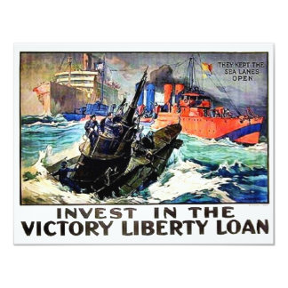 Victory Liberty Loan Custom Invitation