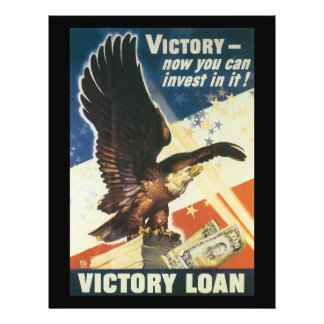 Victory Loan World War 2 21.5 Cm X 28 Cm Flyer