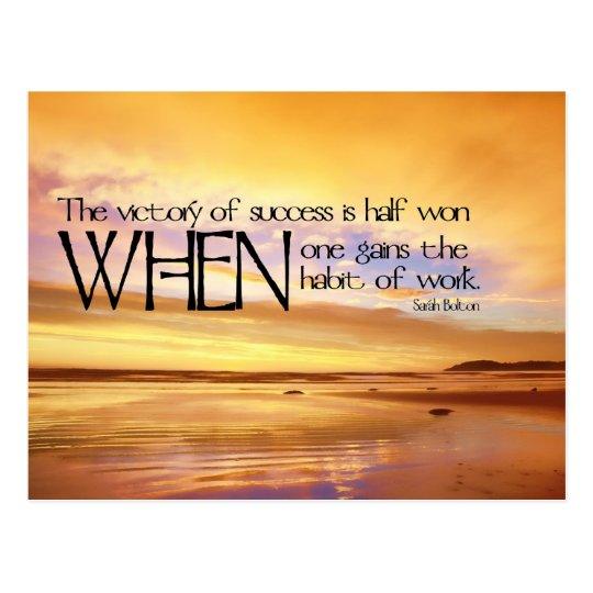 Victory of Success Motivational Postcard