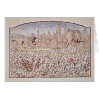 Victory of the inhabitants of Ghent led by Greeting Card