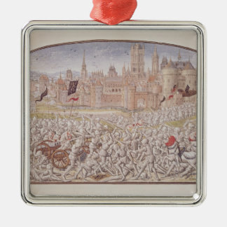 Victory of the inhabitants of Ghent led by Silver-Colored Square Decoration