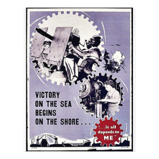 Victory On The Sea Begins On The Shore Personalized Flyer