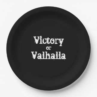 Victory or Valhalla gift Paper Plate